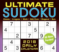 Ultimate Sudoku 2018 Box Calendar by Conceptis Puzzles