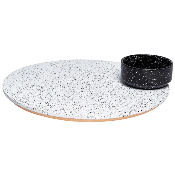Doiy: Eclipse Rotating Platter With Bowl