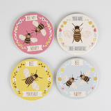 Bee Coasters - set of 4