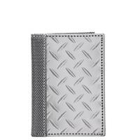 Stewart/Stand Stainless Steel Driving Wallet - (Diamond Plate) Silver