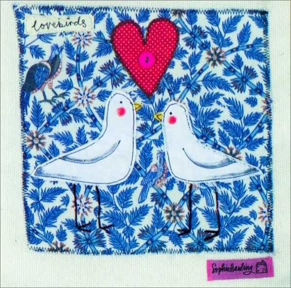 Buy artists cards lovebirds greeting card at mighty ape nz artists cards lovebirds greeting card m4hsunfo