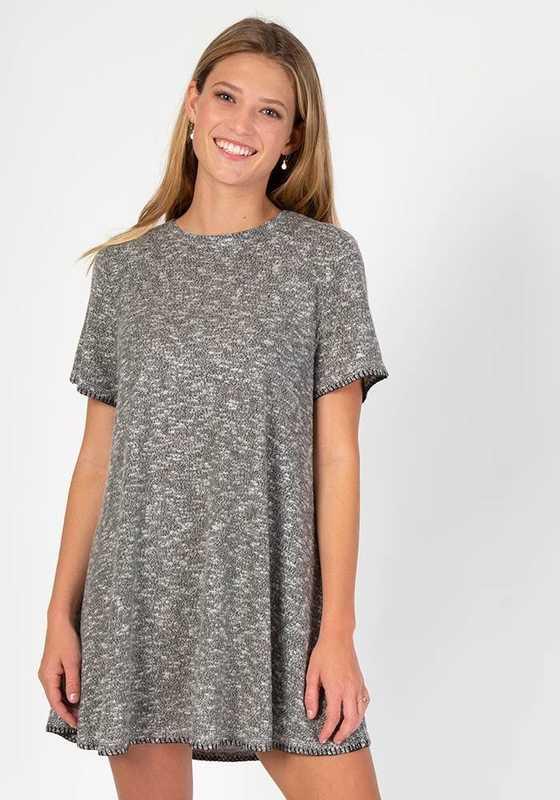 Natural Life: Cozy Dress - Grey Black (Large)
