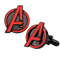 Marvel: Black And Red Avengers Logo Men's Cufflinks