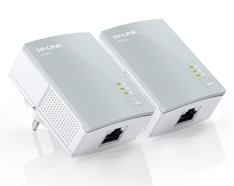 TP-Link 500Mbps AV600 Mini Powerline Ethernet Adapter Starter Kit image