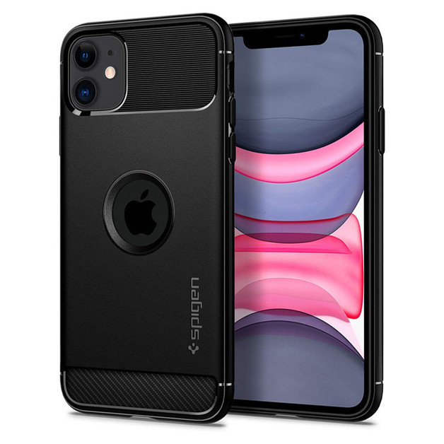 Spigen: iPhone 11 Rugged Armor Case - Black