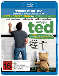 Ted - Triple Play on DVD, Blu-ray, DC