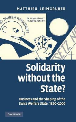 Solidarity without the State? by Matthieu Leimgruber