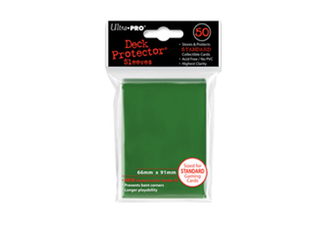 Ultra Pro Solid Deck Protectors: Matrix Green (50)