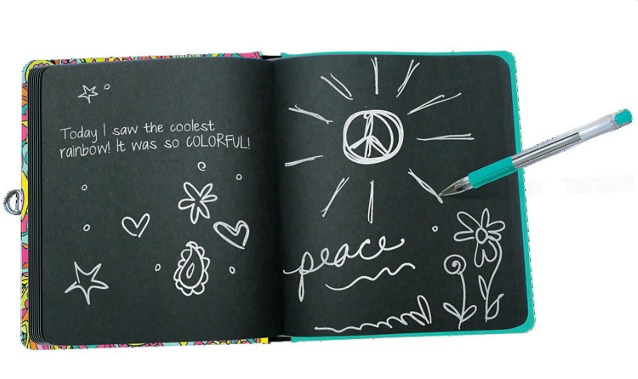 Peaceable Kingdom: Lockable Diary - Peace Sign image
