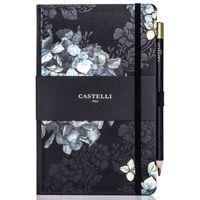 Castelli: Hydrangea 2019 Midnight Floral Medium Diary