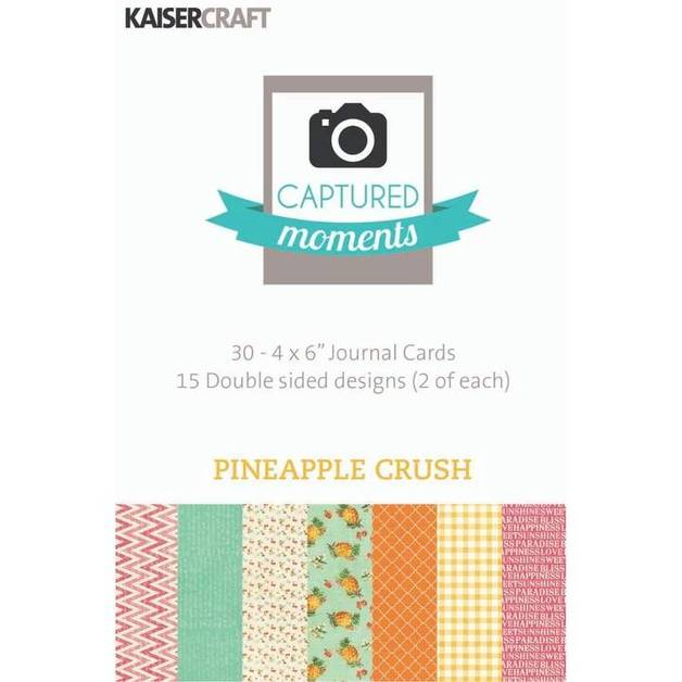 """Kaisercraft: Captured Moments 6x 4"""" Cards - Pineapple Crush (Pack of 30)"""