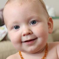 Bambeado Amber Necklace - Baby Bud - Honey image