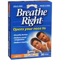 Breathe Right Nasal Strips Tan Large (30 pack)