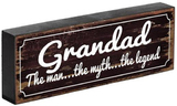 'Grandad the Legend' Shelf Plaque