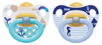 NUK: Classic Happy Kids Latex Soothers - 18+ Months (2 Pack) - Blue