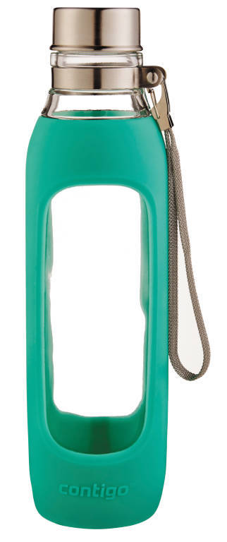 Contigo: Purity Glass Water Bottle- Jade (591ml)