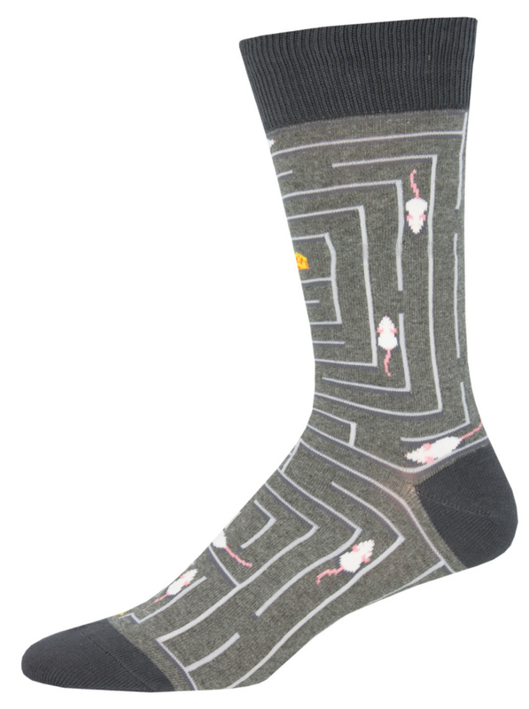 Socksmith: Mens Rat Race - Gray Heather