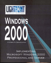 Implementing Microsoft Windows 2000 Professional and Server image
