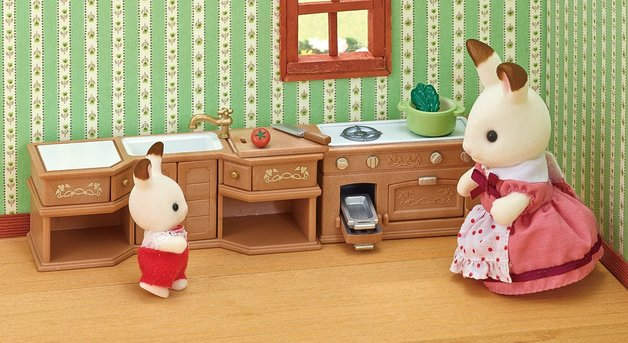 Sylvanian Families: Kitchen Stove, Sink & Counter Top