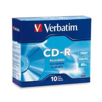 Verbatim CD-R 700MB 10Pk Slim Case 52x image