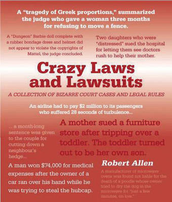 Crazy Laws and Lawsuits by Robert Allen image