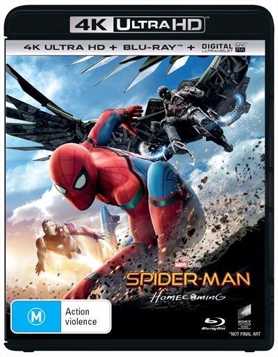 Spider-Man: Homecoming on Blu-ray, UHD Blu-ray, UV