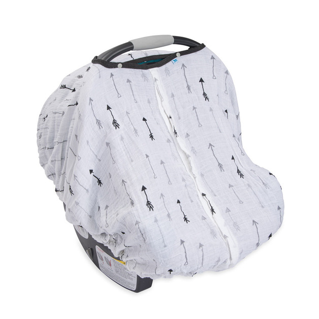 Little Unicorn: Muslin Car Seat Canopy - Arrow