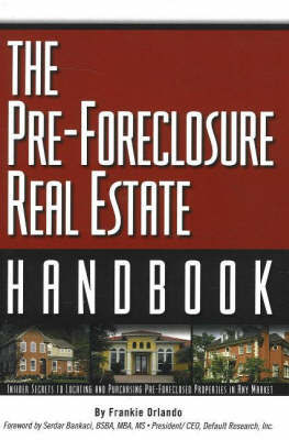Pre-Foreclosure Real Estate Handbook by Frankie Orlando image
