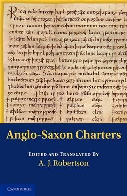 Anglo-Saxon Charters in the Vernacular 3 Volume Set Anglo-Saxon Charters: Volume 1 image