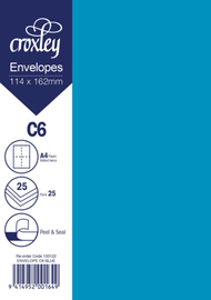 Envelope C6 Blue - 114x162mm (Pack 25)
