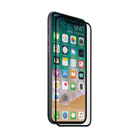 3SIXT Screen Protector for iPhone X - Curved Glass (Black)