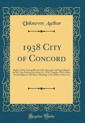 1938 City of Concord by Unknown Author