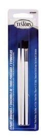 Testors: Economy Flat/Pointed Brush Set - (3 Pack)
