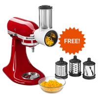 KitchenAid: Stand Mixer - Almond Cream + BONUS Attachment