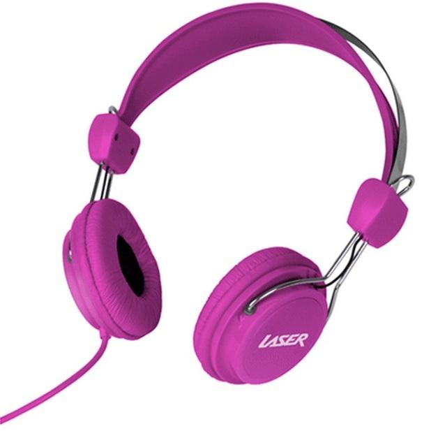 Kids Friendly Stereo Headphones - Pink