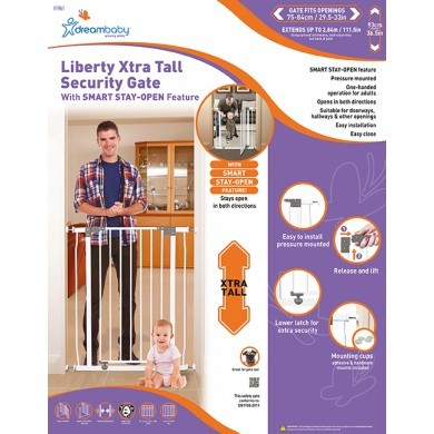 Dreambaby Liberty Tall Security Gate - White