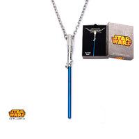 Star Wars: Blue Titanium Plated Lightsaber Necklace image
