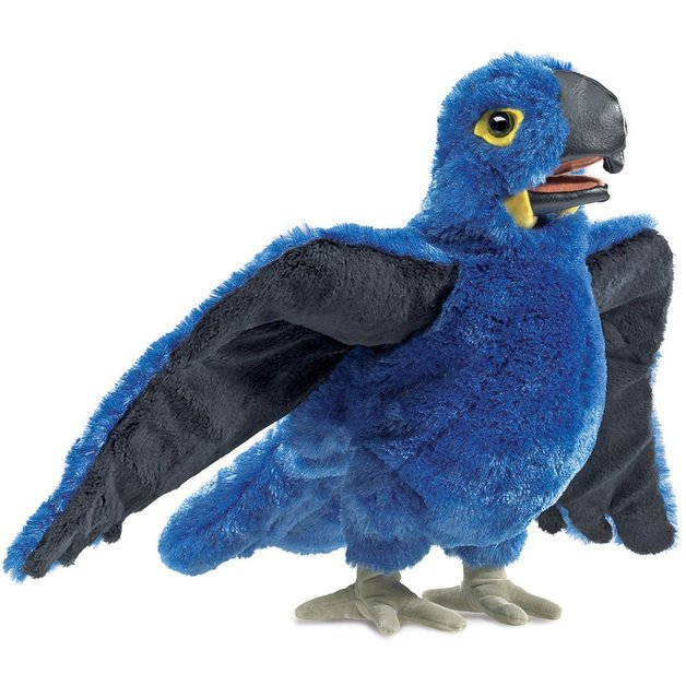 Folkmanis Hand Puppet - Blue Macaw