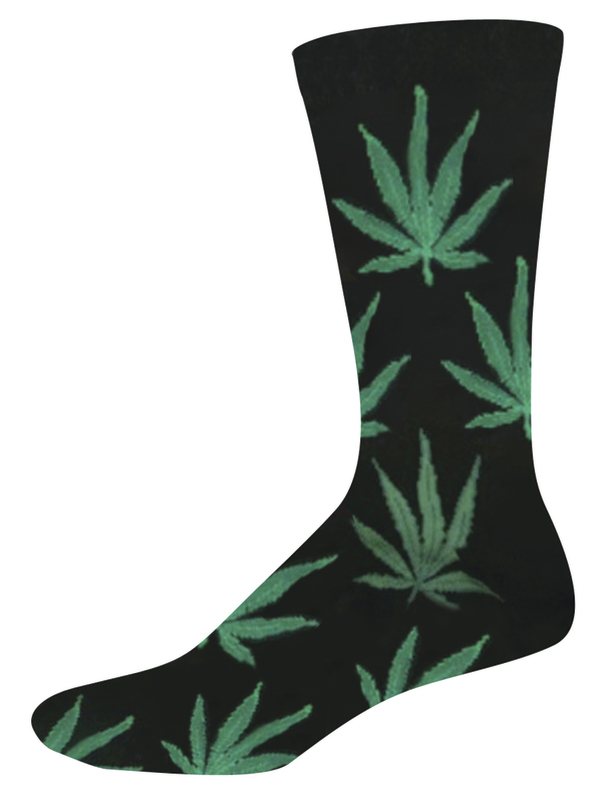 Socksmith: Men's Pot Crew Socks - Black