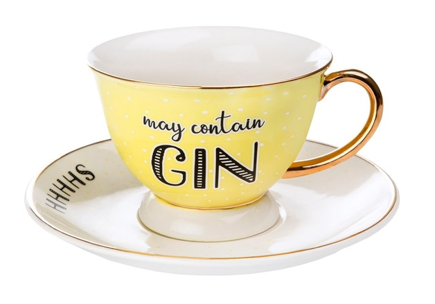 Sass & Belle: May Contain Gin - Cup & Saucer Set