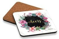 Kelly Lane: Desert Chic Cork Coasters - Cheers (Set of 6)