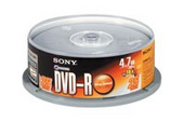 Sony DVD-R Recordable 25DMR47S3 120 / 240 minutes  recording time