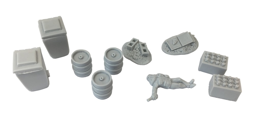 TTCombat: Tabletop Scenics - Back Alley Accessories 5 image