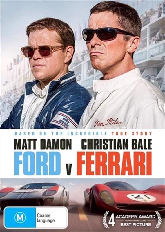 Ford v Ferrari on DVD