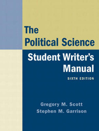 The Political Science: Student Writer's Manual by Gregory M. Scott image