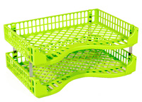 Bic: Document Tray - Acid Green (Pack of 2)