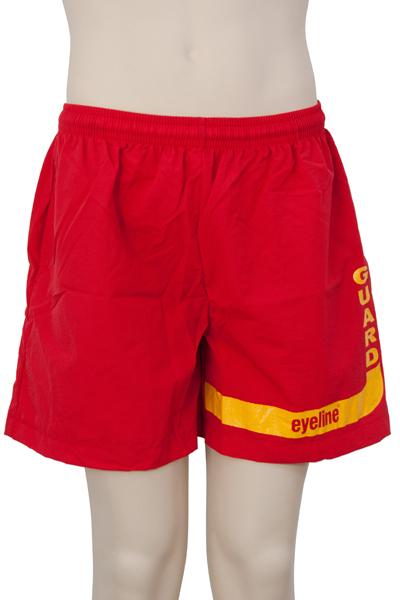 Eyeline Guard Logo Shorts Taslon - Red (Medium)