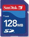 SanDisk SD SecureDigital 128MB Memory