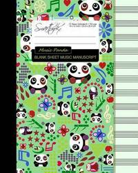 Blank Sheet Music: Music Manuscript Paper / Staff Paper / Musicians Notebook [ Book Bound (Perfect Binding) * 12 Stave * 100 Pages * Large * Music Panda ] by Smart Bookx image