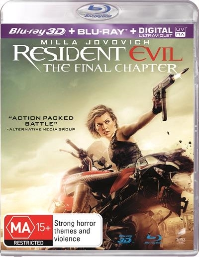 Resident Evil: The Final Chapter on Blu-ray, 3D Blu-ray, UV image
